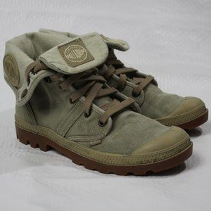Palladium Canvas Cuffed Combat  Boot Size 7.5.